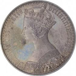 64以上は見つからない! 1847年 英国 ゴシック(ゴチック)クラウン銀貨 UNDECIMO PCGS PR64