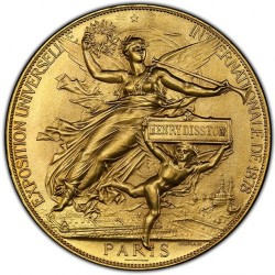 さすがフランスの金メダル 1878年 フランス ゴールドメダル PCGS MS64