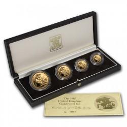 1985年 英国 ソブリンプルーフ金貨4枚セット