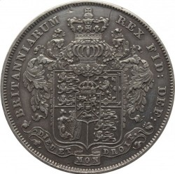 この価格で絶対買えない!1826年 英国 ジョージ4世 プルーフクラウン銀貨 XFコンディション