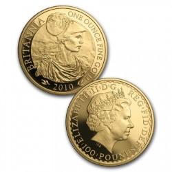 2010年 英国 ブリタニア プルーフ金貨4枚セット