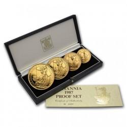 激安 早い者勝ち! 1987年 英国 ブリタニアプルーフ金貨4枚セット