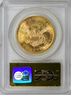 格安 1857-S セントラルアメリカ号 $20 PCGS/CAC MS64 スパイクシールド