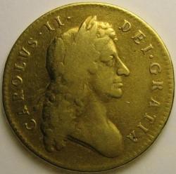 腐っても鯛 1682年 英国 チャールズ2世 5ギニー金貨