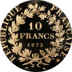 1973年 フランス 10フラン ピエフォー プルーフ金貨 PCGS SP68