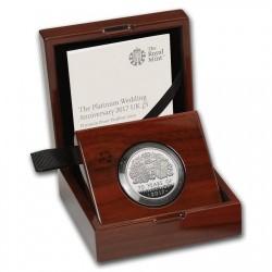 2017年 英国 プラチナ・ウエディング(70周年)ピエフォー 3oz プルーフプラチナ貨