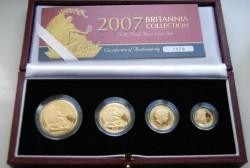 2007年 英国 ブリタニア・プルーフ金貨 4枚セット