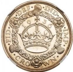 R4 激レア 1936年 英国 ジョージ5世 VIP プルーフクラウン銀貨 NGC PF63