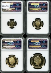 175セットの1つ! 2010年 英国 ブリタニア金貨4枚セット NGC PF70 Ultra Cameo