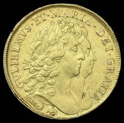 1692年 英国 ウィリアム&メアリー 5ギニー金貨