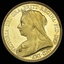 1893年 英国 ヴィクトリア・ヴェール(オールド)ヘッド 10枚プルーフ金貨&銀貨セット