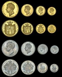 80年ぶりに市場に! 1826年 英国 ジョージ4世 8枚プルーフ金貨&銀貨セット