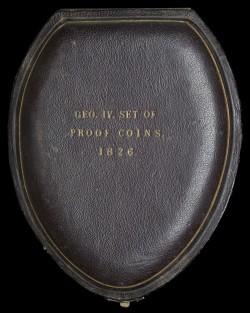 80年ぶりに出品 1826年 英国 ジョージ4世 8枚プルーフ金貨&銀貨セット
