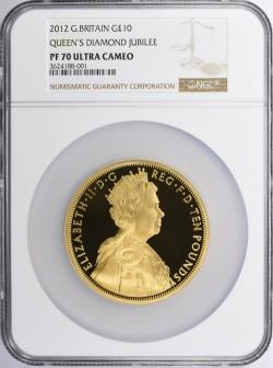 2012年 英国 ダイアモンド・ジュビリー 5オンスプルーフ金貨 NGC PF70UC
