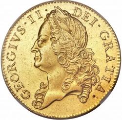 レア 1748年英国ジョージII世 5ギニー金貨 NGC AU50