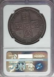 海外では鑑定なしが29000ポンド 最高鑑定 1746年 英国 ジョージ2世 プルーフクラウン銀貨 NGC PF65