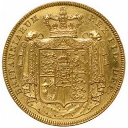 1826年 英国 ジョージ4世 5ポンド金貨 ギルド(Gilded)