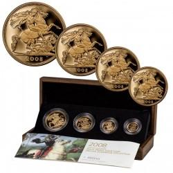 2008年 英国 ソブリンプルーフ金貨4枚セット