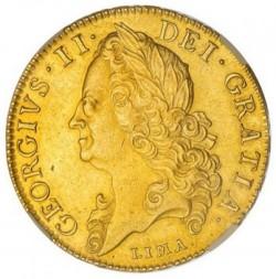 1746年 英国 ジョージ2世5ギニー金貨 NGC AU55
