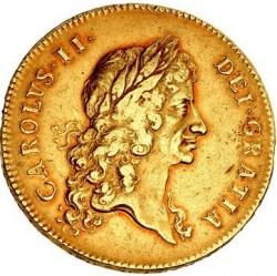 1670年 英国 チャールズ2世5ギニー金貨 NGC XF45