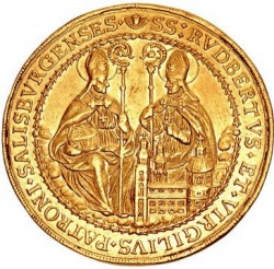 激レア 1668年 神聖ローマ帝国 ザルツブルグ 10ダカット金貨 NGC AU53