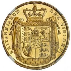 1826年 英国 ジョージ4世 2ポンドプルーフ金貨 NGC PF63 CAMEO