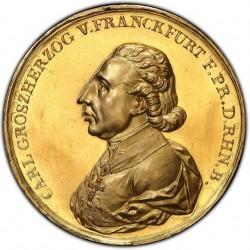 激レア PCGS唯一の鑑定品1810年 ドイツ フランクフルト 都市景観 10ダカット金貨 PCGS SP62