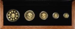 限定500セット 2010年 メキシコ リベルタード プルーフ金貨5枚セット