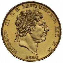 激レア 60枚のみ 試作貨 1820年 英国 ジョージ3世 パターン2ポンドプルーフ金貨 PCGS PR63DCAM