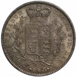 1847年 英国 ヤング・ヘッド ヴィクトリア女王 クラウン銀貨 PCGS MS62