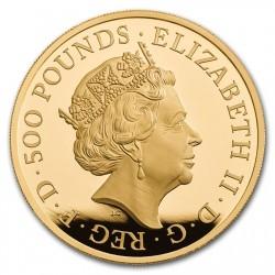 2017年 英国 ブリタニア 5オンスプルーフ金貨