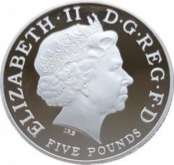 2013年 英国 ジョージ王子洗礼ピエフォー・プラチナ貨