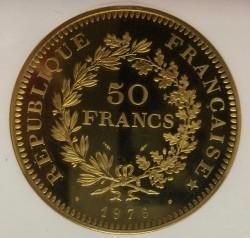鋳造54枚のみ 1976年フランスG50F ピエフォー NGC PF66 Ultra Cameo