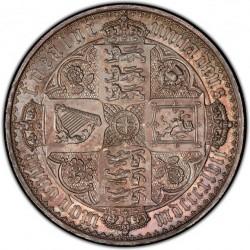 1847年 英国 ゴチッククラウン銀貨 PCGS PR63 CAMEO