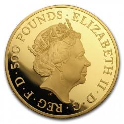 2018年 英国 クイーンズ・ビースト ドラゴン5オンスプルーフ金貨