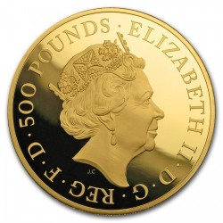 2018年 英国 クイーンズ・ビースト ブル 5オンスプルーフ金貨