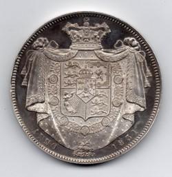 1831年 英国 ウィリアム4世 プルーフクラウン銀貨