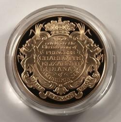 シャーロット王女洗礼記念 5ポンド金貨 PCGS PR70DCAM