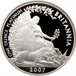 2007年 英国 プラチア・ブリタニアプルーフ4枚セット