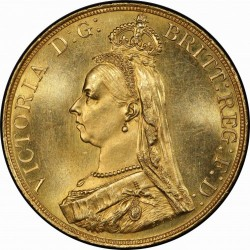 1887年 英国 ヴィクトリア ジュビリー 5ポンド金貨 PCGS MS64