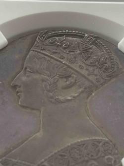 オンリーワン 試作貨 1847年 英国 ヴィクトリア女王 ゴチッククラウン銀貨 片面鋳造 NGC MS65